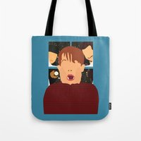 home alone Tote Bags featuring home alone by Live It Up