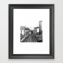 NY Train Framed Art Print