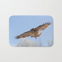 Indian Brown Wood Owl Bath Mat
