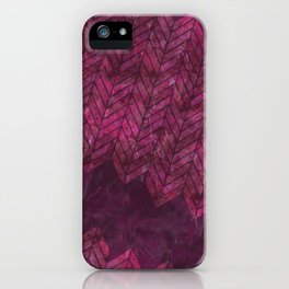Painted Chevron iPhone Case
