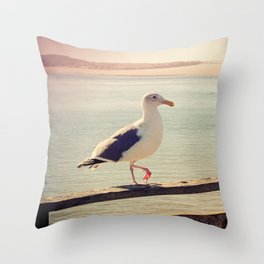 Oregon Seagull Lomography Throw Pillow