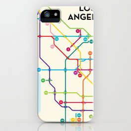 Los Angeles Freeway System iPhone Case