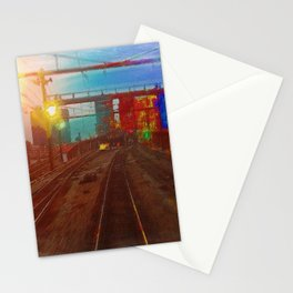 The Past Train 3 Stationery Cards
