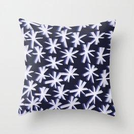 Snowflake brush strokes Throw Pillow