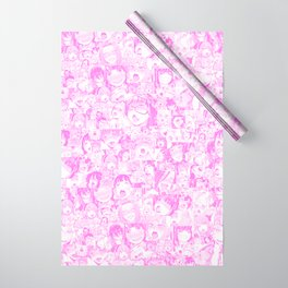 Pastel Ahegao Collage Wrapping Paper