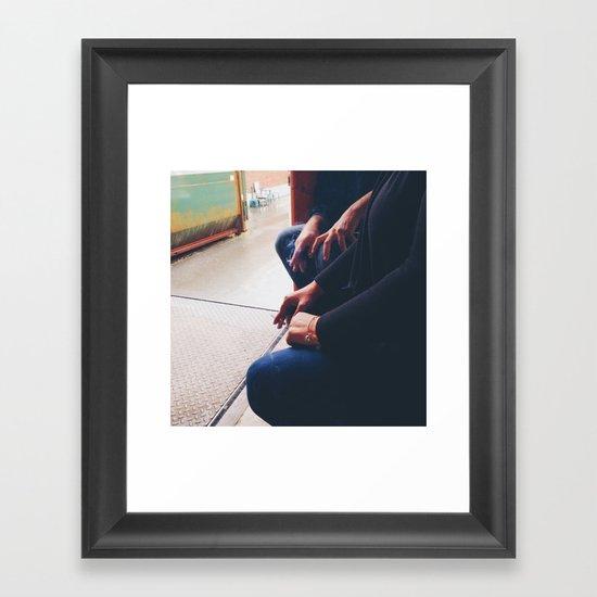Smoking Break Framed Art Print