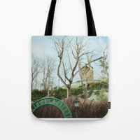 moulin rouge Tote Bags featuring Moulin by Andrea Fg
