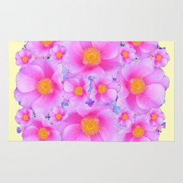 Pink ROSES & CREAM COLOR ART Rug