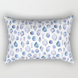 Gems, gemstone, gem illustration, purple gem, purple print, purple art, girly art, crystals Rectangular Pillow