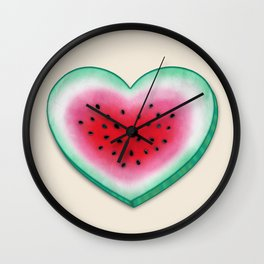 Summer Love - Watermelon Heart Wall Clock