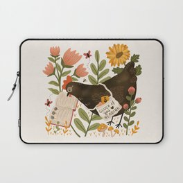 Chicken Reading a Book Laptop Sleeve