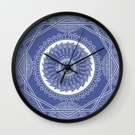 Star Wheel Pattern Wall Clock