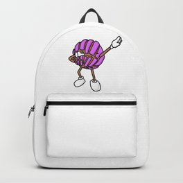 Strawberry Concha Dab Mexican Bread Holiday Backpack