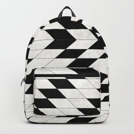 Urban Tribal Pattern No.15 - Aztec - White Concrete Backpack