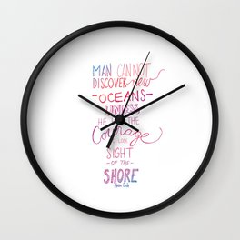discover new oceans gradiant Wall Clock