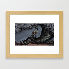Pecos Bill Lassos a Tornado Framed Art Print