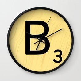 Scrabble B Decor, Scrabble Art, Large Scrabble Prints, Word Art, Accessories, Apparel, Home Decor Wall Clock