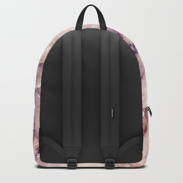 Pink marble texture effect Backpack