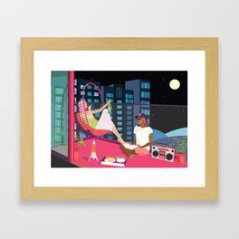 Balcony BFF Hang Out Framed Art Print