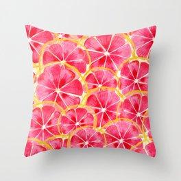 Tropical Citrus Throw Pillow