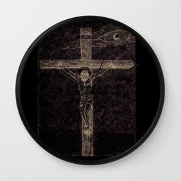 Frances Biblical Christ Crucified Wall Clock