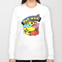 pac man Long Sleeve T-shirts featuring Pac-Man by idaspark