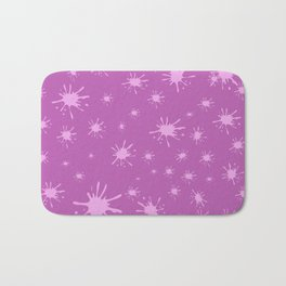 pink spots on pink background Bath Mat