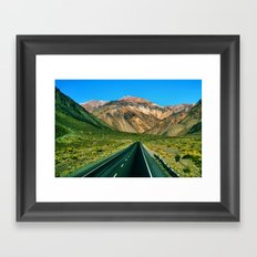 On the Road to Chile Framed Art Print