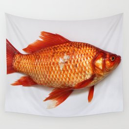Red Gold Fish Wall Tapestry