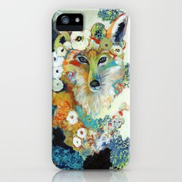 Fox in Pearls iPhone Case