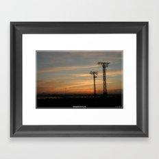 Autopista de la luz. Framed Art Print