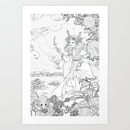 Autumn Queen Art Print