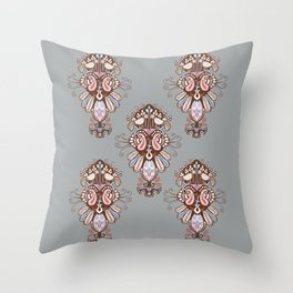 Harmony Grey Throw Pillow