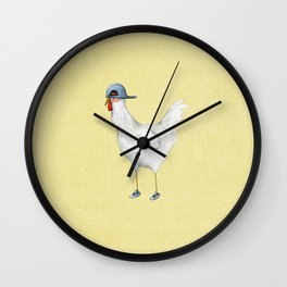 Spring Chicken Wall Clock