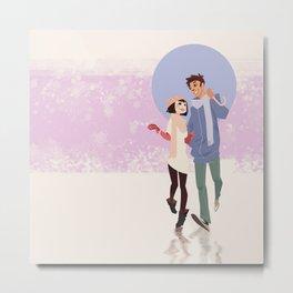 Winter Fun|Umbrella Metal Print