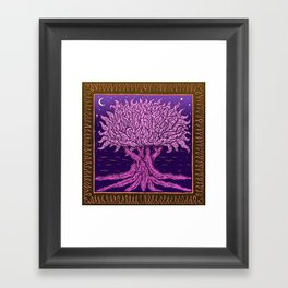 ombo pink tree of life Framed Art Print
