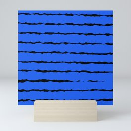 Black and Blue Mini Art Print