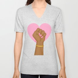 Black Lives Matter Power Fist Unisex V-Neck