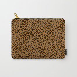 GOLDEN LEOPARD PRINT – Yellow Ocher | Collection : Punk Rock Animal Prints. Carry-All Pouch