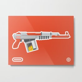 N-16 Sub Automatic Assault Light Gun Metal Print