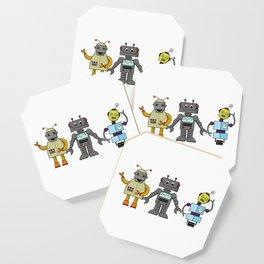 The Three Robots,  A Trio Of Retro Robots Coaster