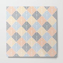 Boho Pattern (Sand and Blue) Metal Print