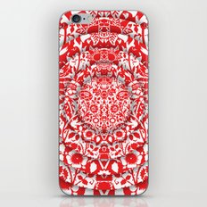 Illusionary Daisy (Red) iPhone & iPod Skin