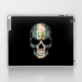 Dark Skull with Flag of Guatemala Laptop & iPad Skin