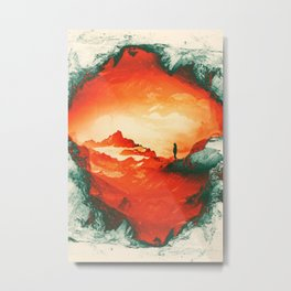 Occupy Mars a Red Sci fy Landscape Metal Print