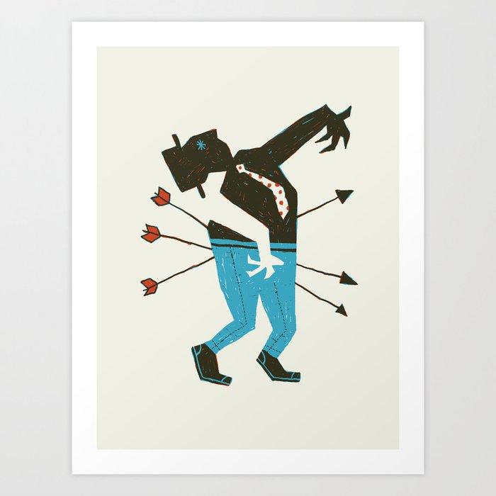 Dust Bowl Banker Art Print