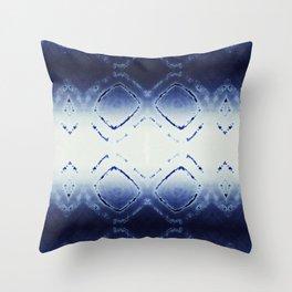 Tie-Dye Dia Blue Throw Pillow