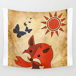 The Fox & Butterfly Clan Wall Tapestry