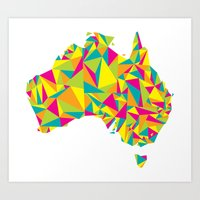 Abstract Australia Bright Earth Art Print
