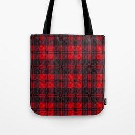 Dark Red Tartan Tote Bag